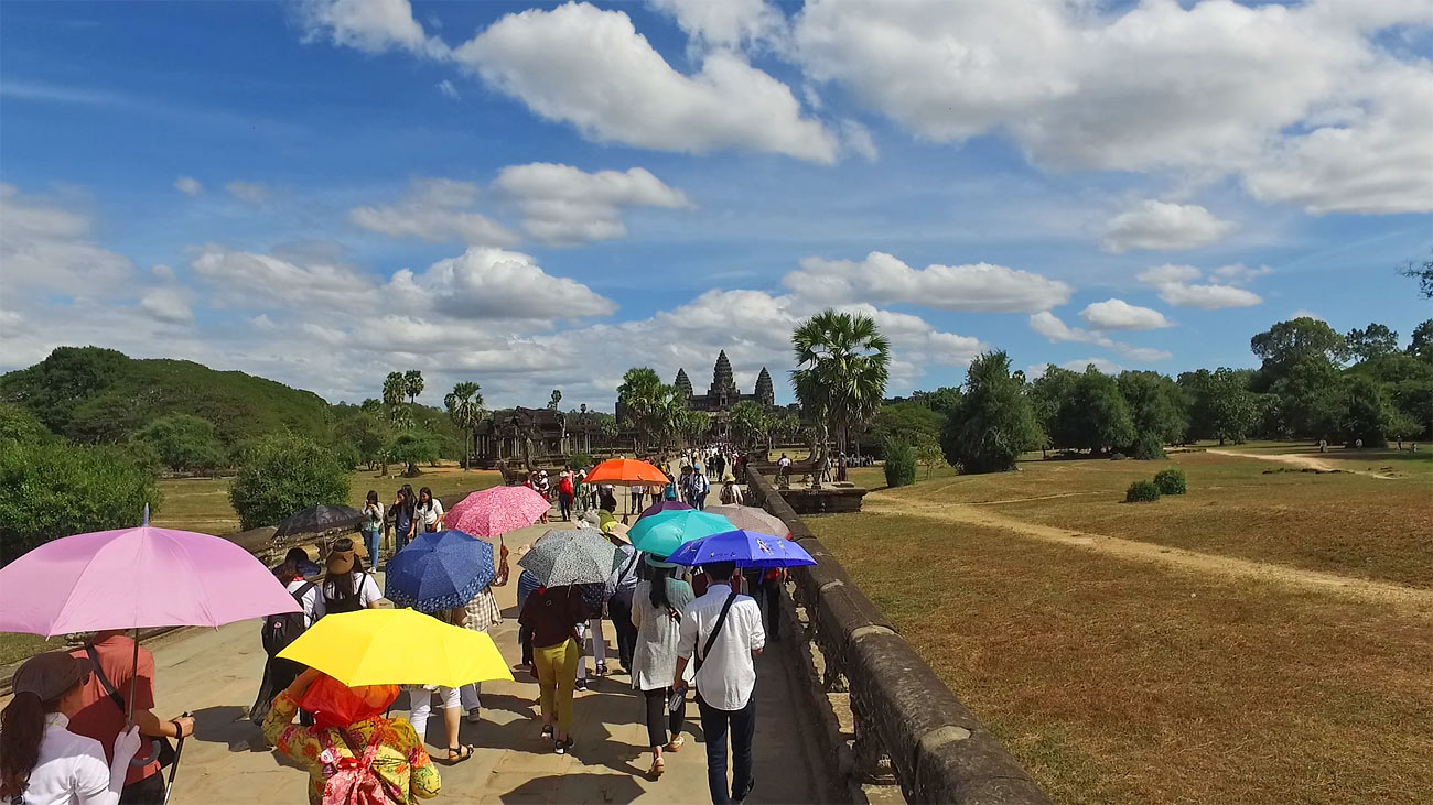 video footage of Angkor wat